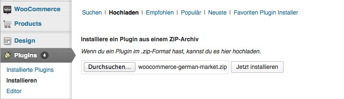 01 WooCommerce German Market Installation HowTo WordPress
