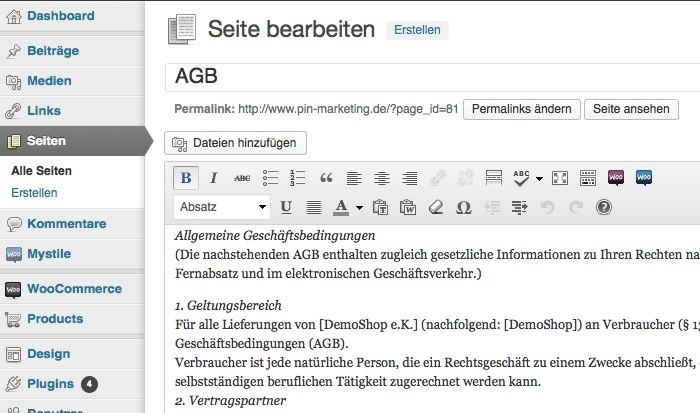 07 WooCommerce German Market Installation HowTo WordPress