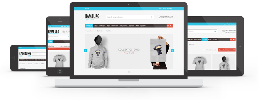 Moin Moin, Hamburg! Neues responsives WordPress-Theme für Online-Shops und Blogs 1
