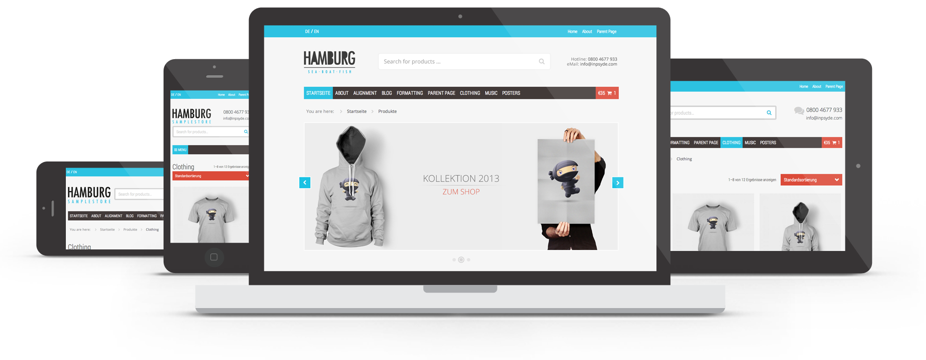 WooCommerce Theme Hamburg