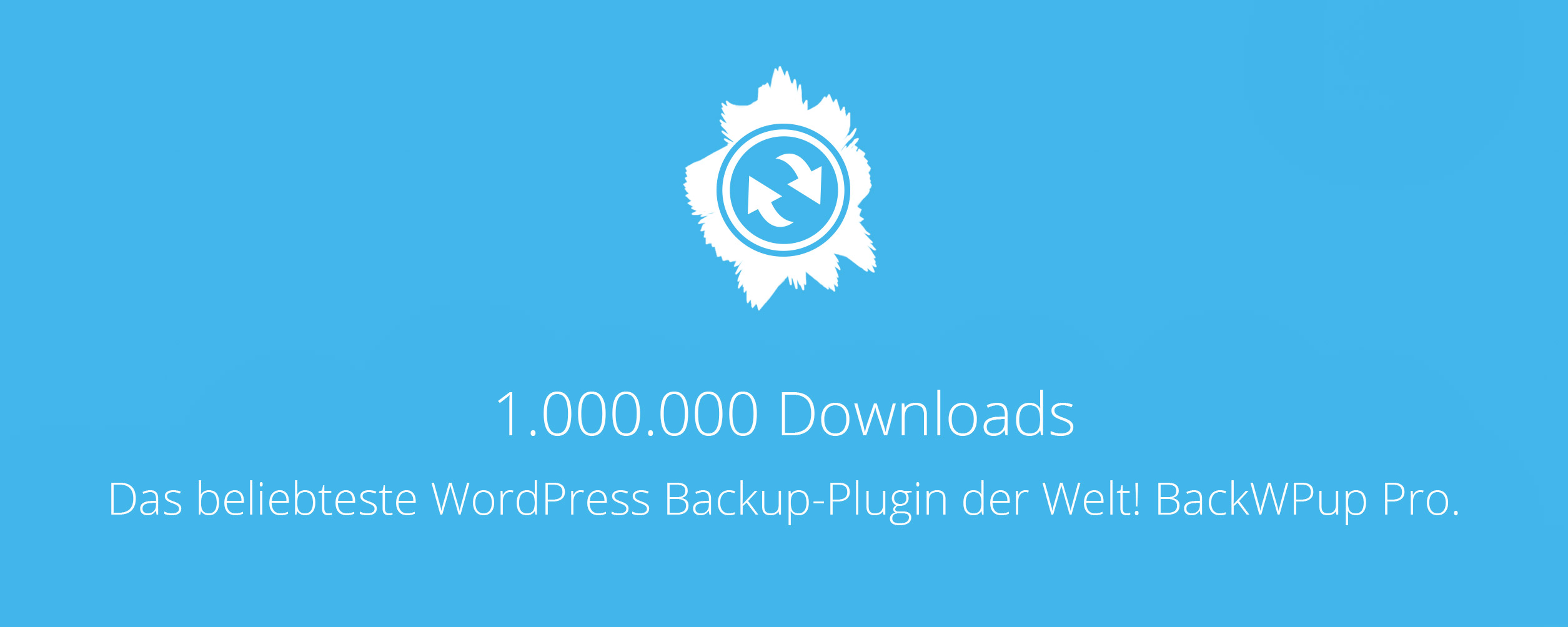 BackWPup Pro - 1 Million Downloads