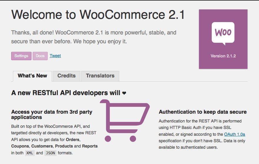 Welcome to WooCommerce