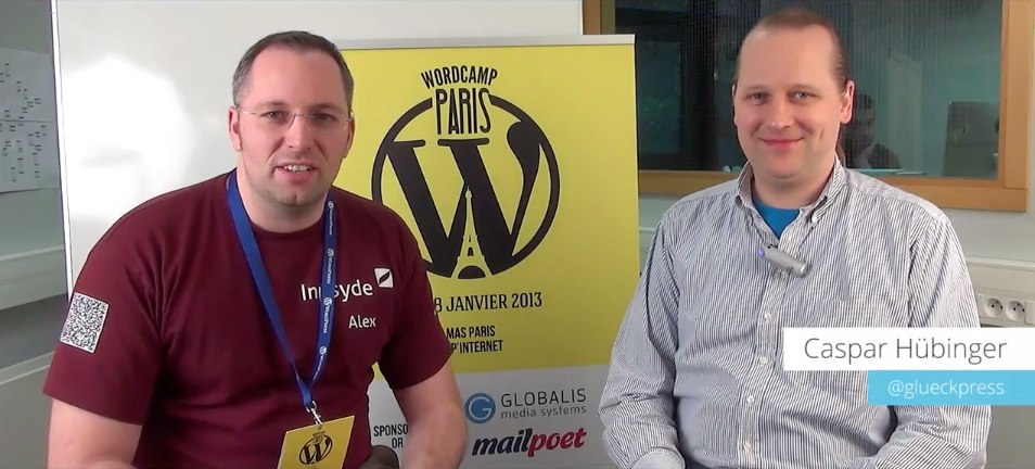 Interviews mit Caspar Hübinger (@glueckpress) auf dem WordCamp Paris 2014 2