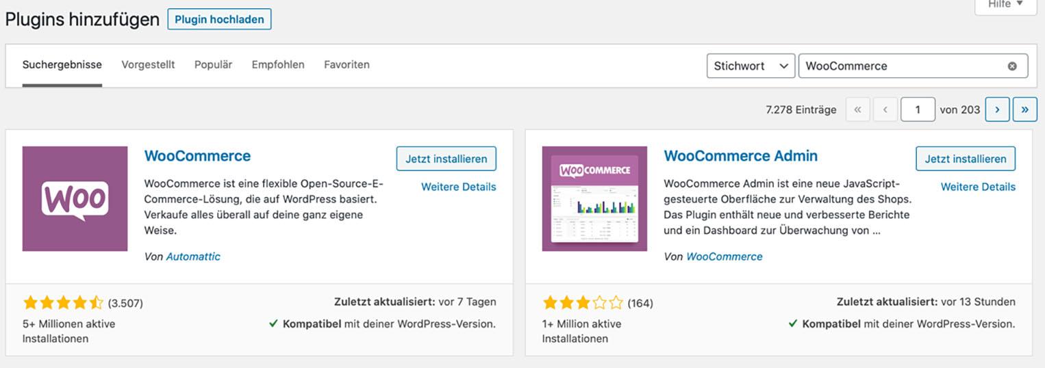 WooCommercee Plugin installation