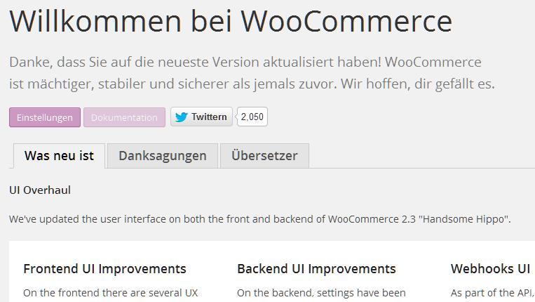Willkommen bei WooCommerce!