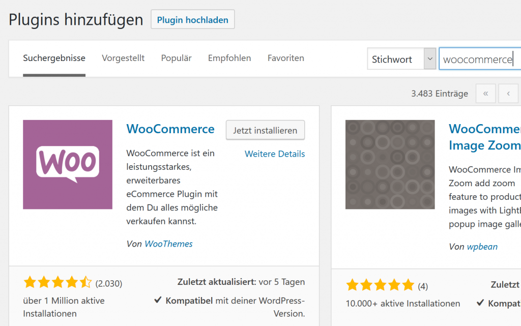 WooCommerce installieren - in fünf Minuten zum Onlineshop auf WordPress-Basis 1