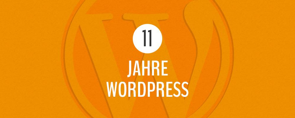 11 Jahre WordPress Gewinnspiel