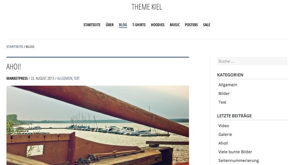 Das Blog-Design von Kiel