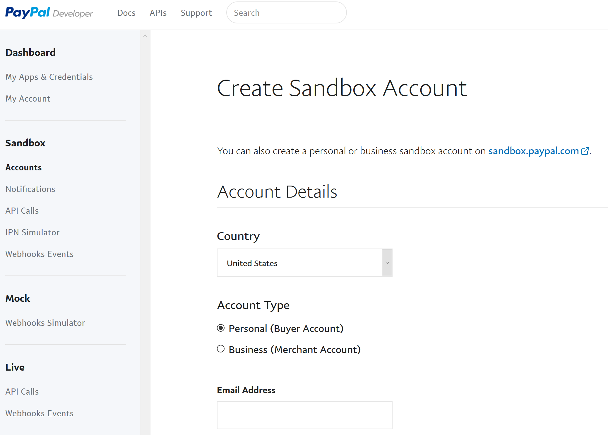 paypal sandbox account erstellen