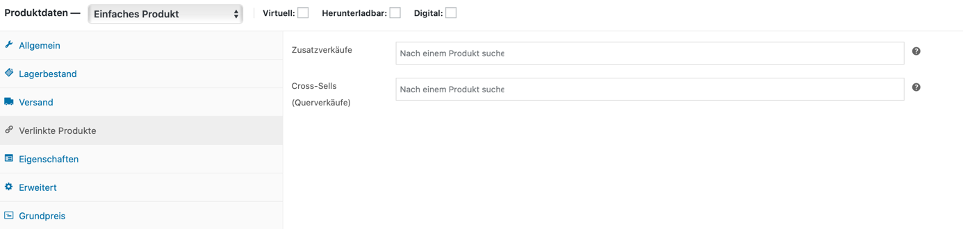 Verlinkte Produkte WooCommerce