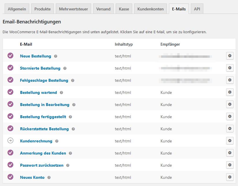 WooCommerce einrichten Teil 7 – E-Mail-Versand und -Templates ...