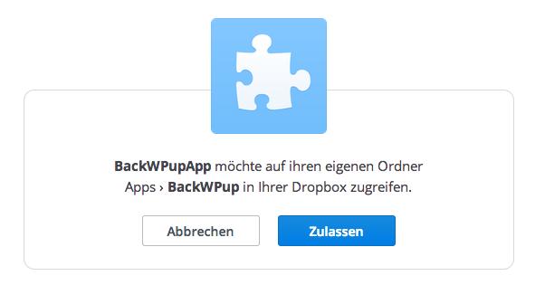 BackWPup Dropbox - Schritt 4
