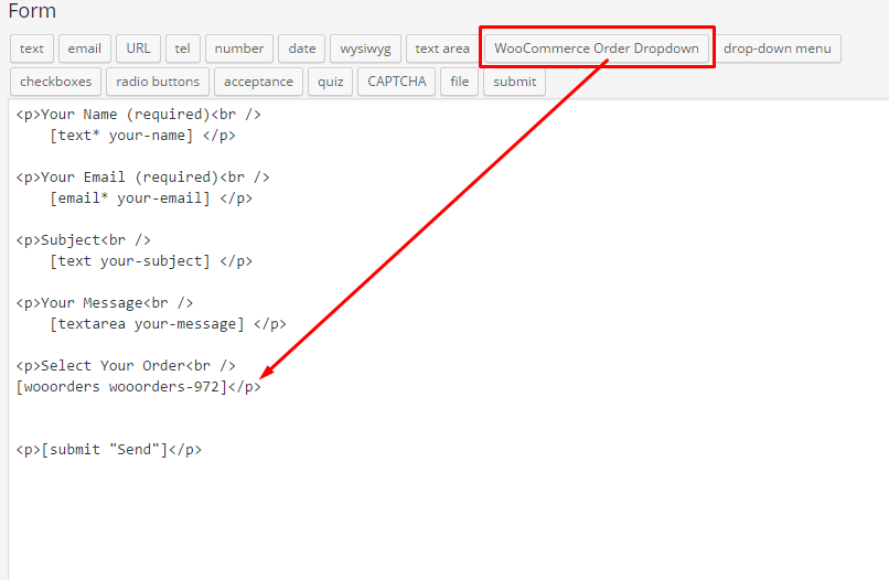 Das Feld kann sehr einfach in ein Kontaktformular eingebunden werden. Screenshot © http://wpboxr.com.