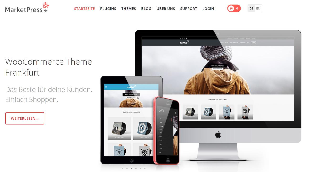 Unser eigener Marktplatz für WooCommerce Themes