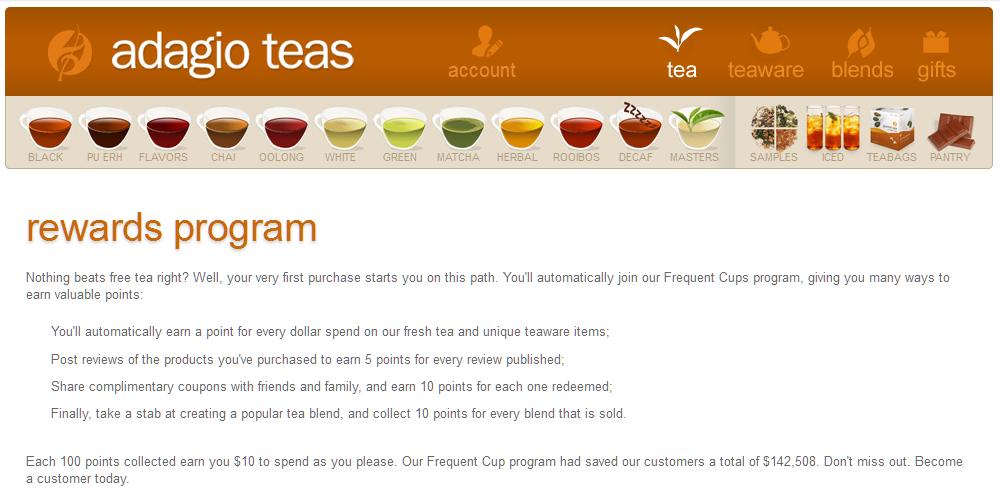 Das Bonusprogramm von Adagio Teas