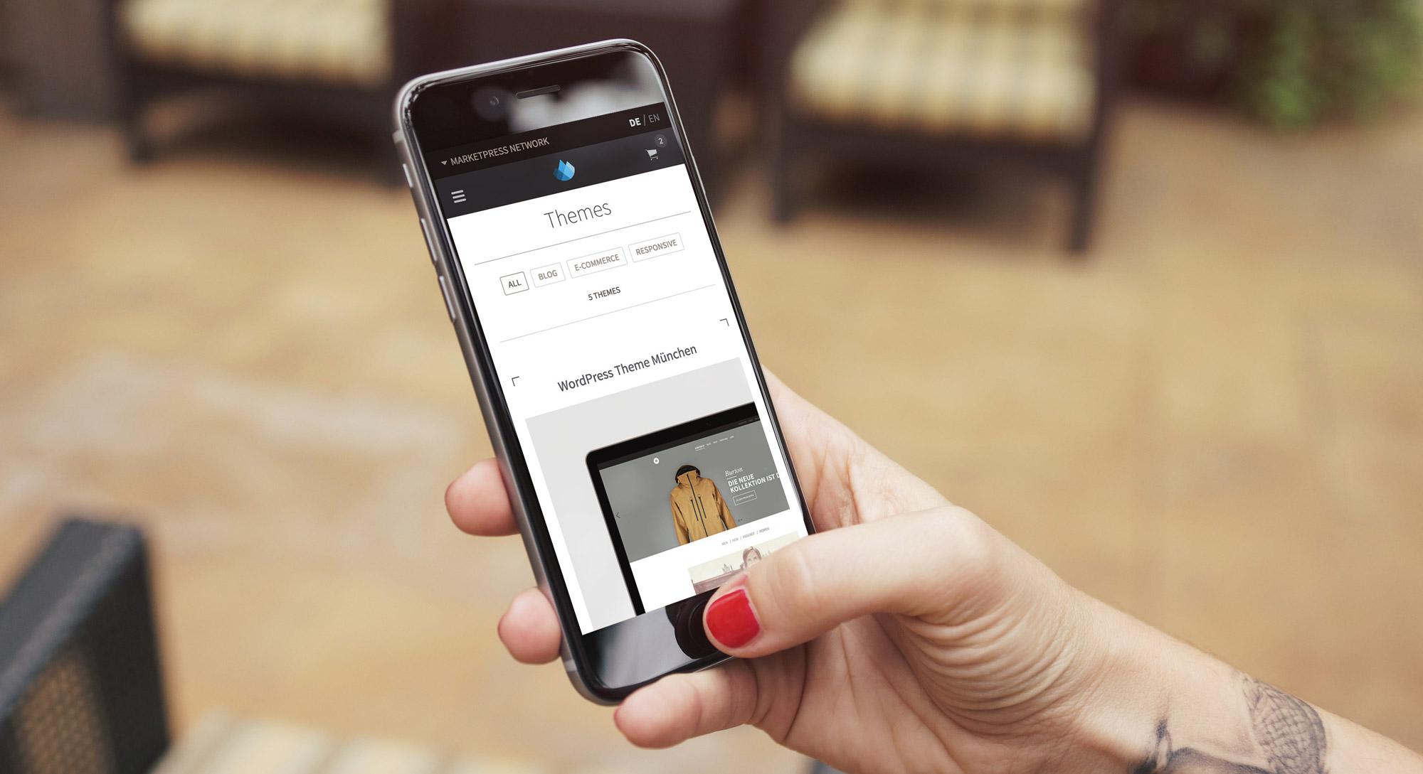 Die mobile Ansicht unserer neuen Plattform