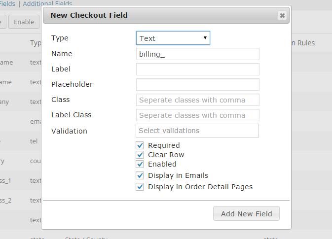 """Mit dem """"Woo Checkout Field Editor Pro"""" ein Feld hinzufügen (Bild ©  ThemeHigh)"""