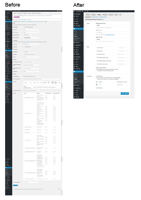 Ein vereinfachter Schnittstellen-Prozess, ohne und mit WooCommerce Connect (Bild © WooThemes)