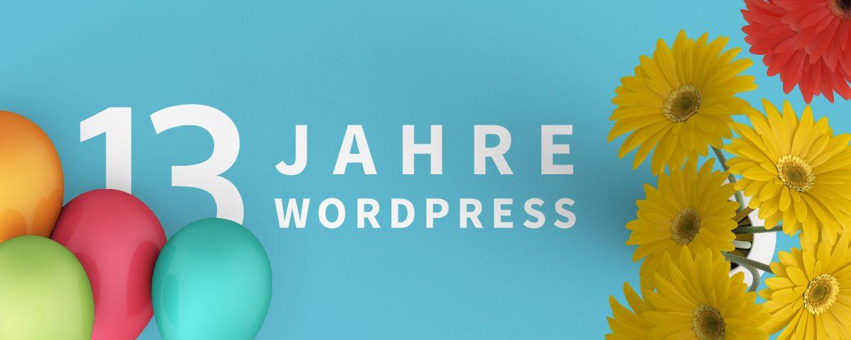 13 Jahre WordPress - 13 Mal ein WooCommerce- oder Blog-Theme gewinnen 1