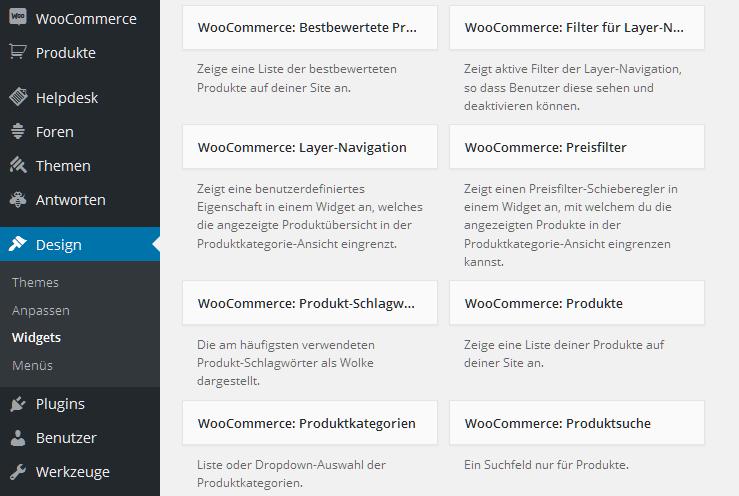 Oft unterschätzt: Die Möglichkeiten der Widgets von WooCommerce