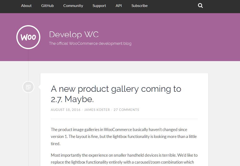 Mit dem WooCommerce development blog bleibst du auf dem Laufenden, was bei zukünftigen Versionen auf dich zukommt. Auch wir berichten regelmäßig über anstehende Neuerungen.
