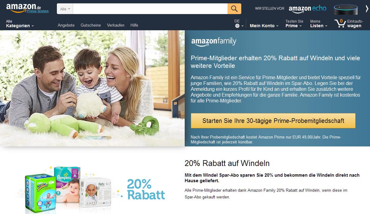 Amazon Family ist nur eines der spezialisierten Bonusprogramme des Marktführers