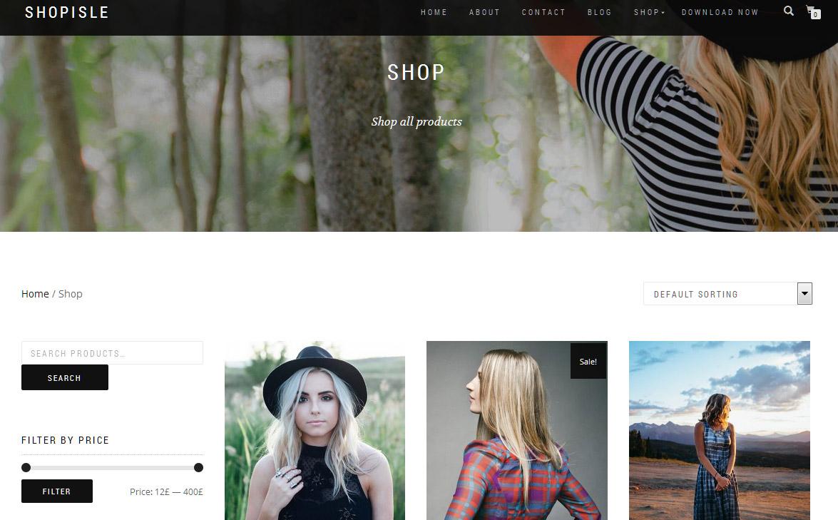 """Schick für Modeshops: Das Theme """"Shop Isle"""""""