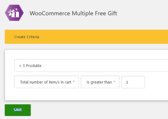Plugins angetestet: WooCommerce Multiple Free Gift - Gratis Beigaben für deinen Shop 3
