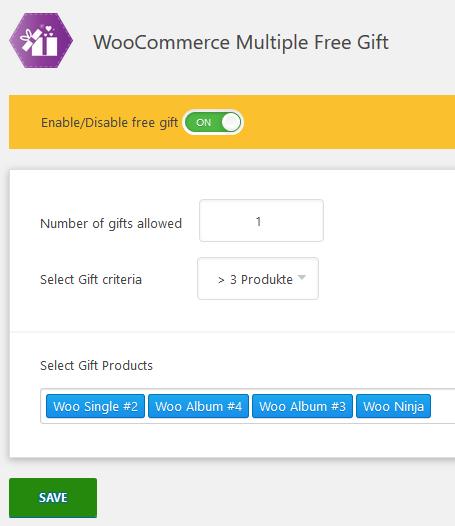 Plugins angetestet: WooCommerce Multiple Free Gift - Gratis Beigaben für deinen Shop 4