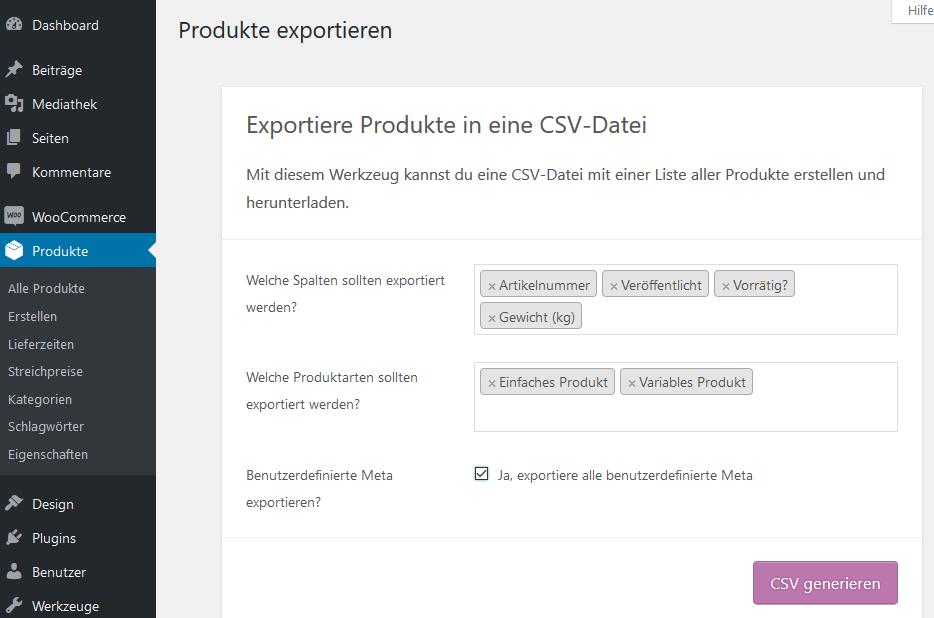 Produktexporter