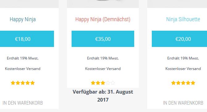 bald verfügbar WooCommerce