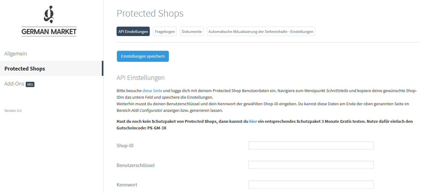 protected shops admin