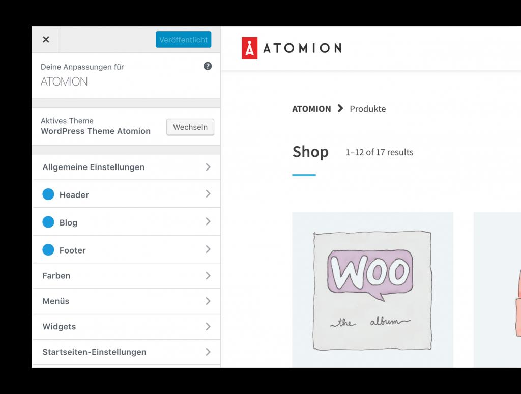 Neu: Atomion - Das erste Gutenberg WooCommerce Theme 3
