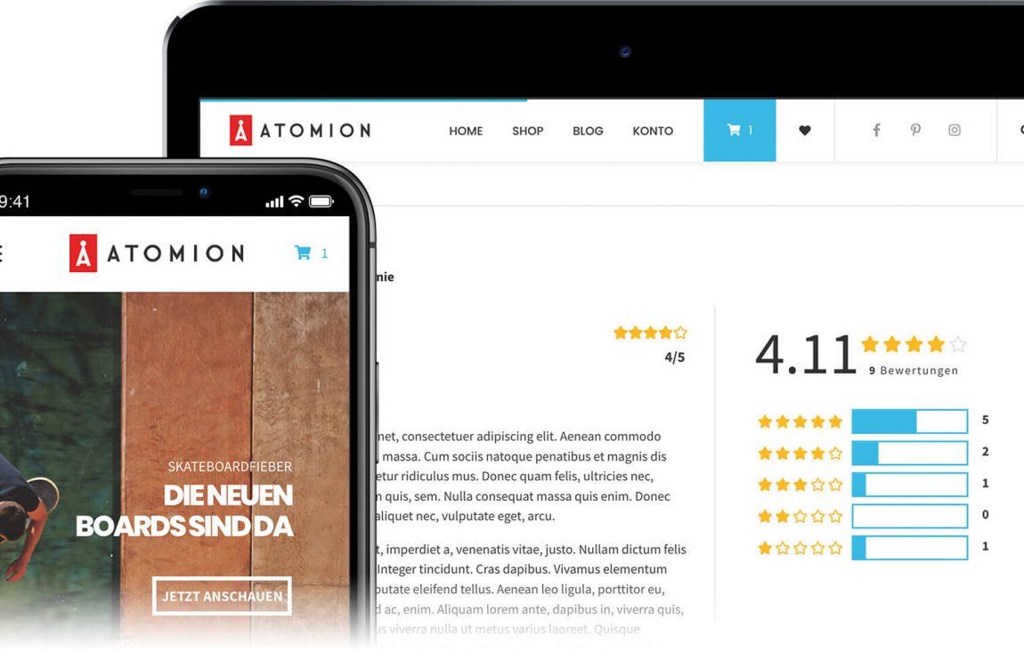 Neu: Atomion - Das erste Gutenberg WooCommerce Theme 5