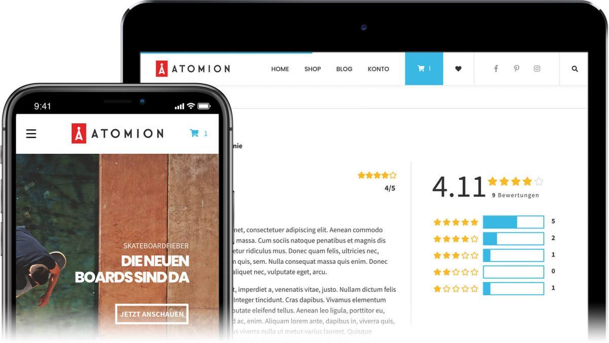 Neu: Atomion - Das erste Gutenberg WooCommerce Theme 1
