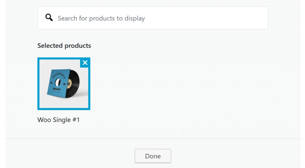 block produktauswahl
