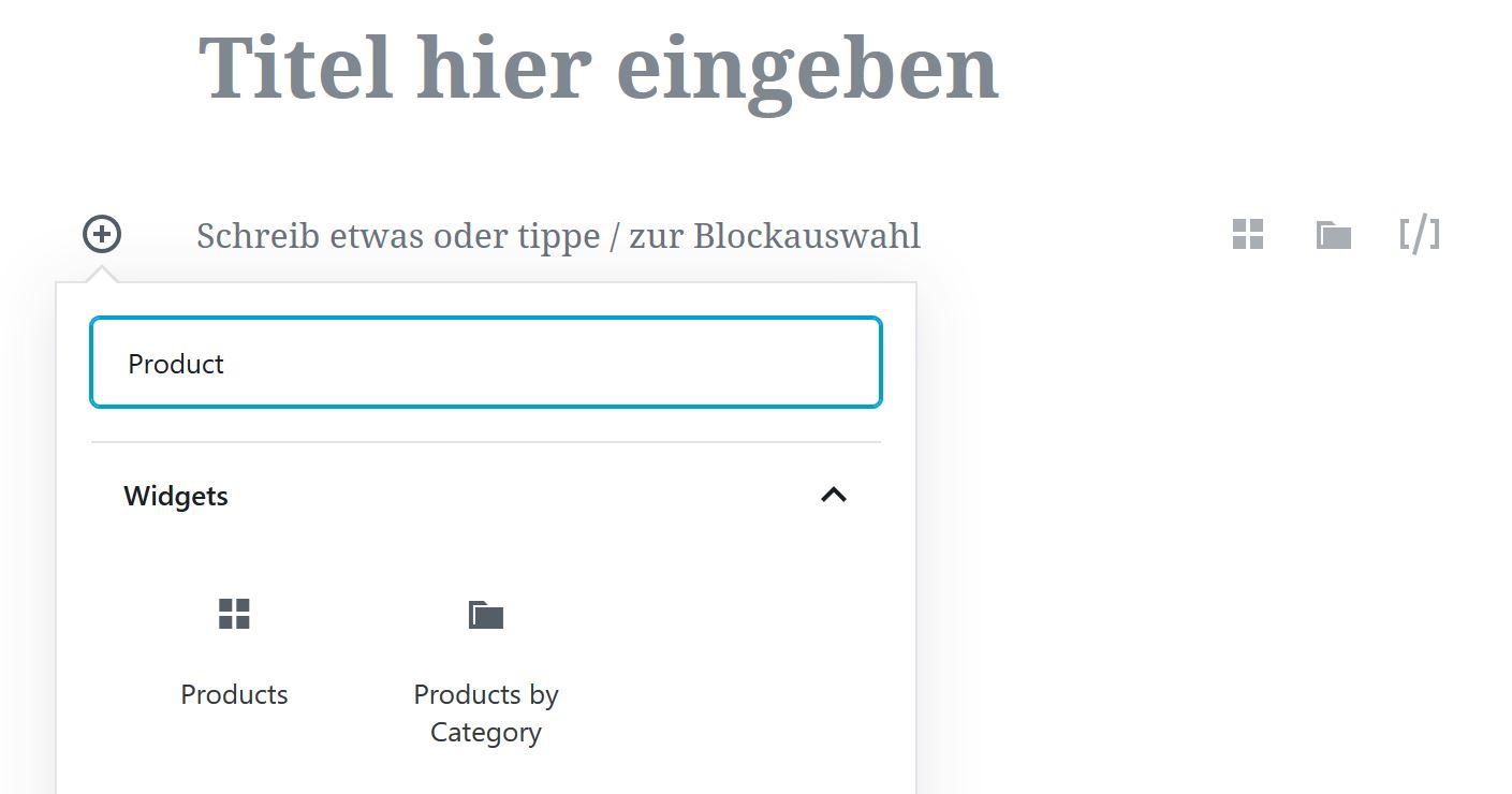 WooCommerce Produkt Block