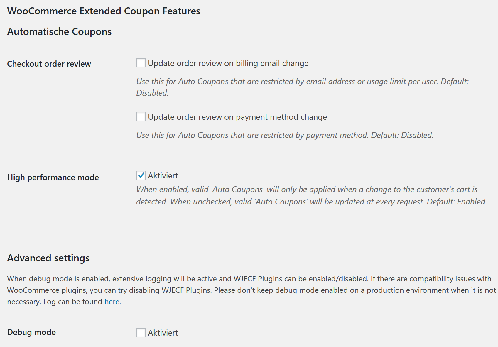 WooCommerce Plugins angetestet: Extended Coupon Features - Gutscheine per E-Mail Link 2