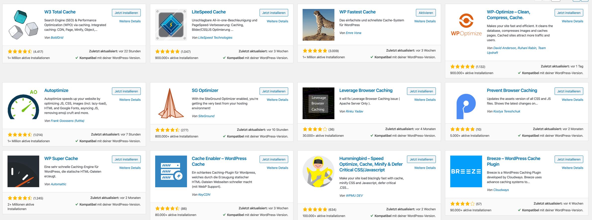 WooCommerce Plugins Cache