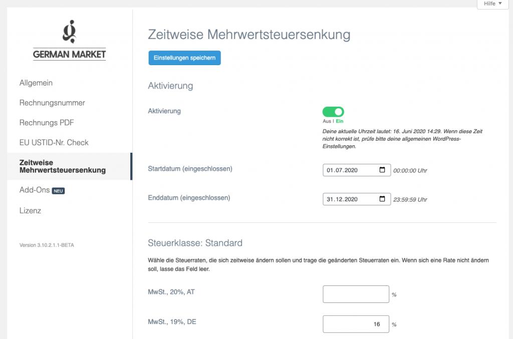 Zeitweise Mehrwertsteuersenkung - German Market Update 3.10.3 1