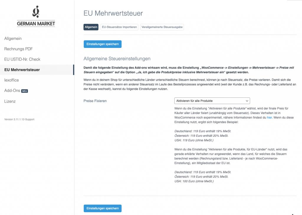 Wie du die neue Umsatzsteuerreform in WooCommerce (OSS Verfahren) mit German Market umsetzen kannst 5