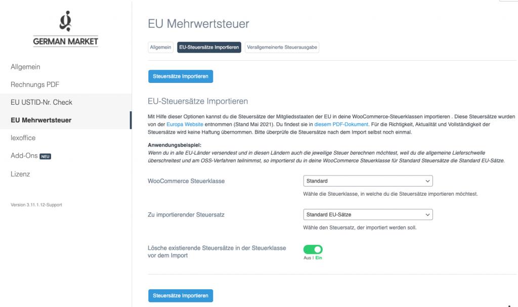 Wie du die neue Umsatzsteuerreform in WooCommerce (OSS Verfahren) mit German Market umsetzen kannst 4