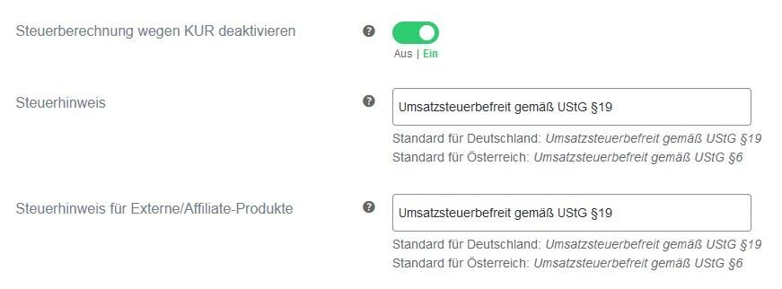 Kleinunternehmerregelung German Market
